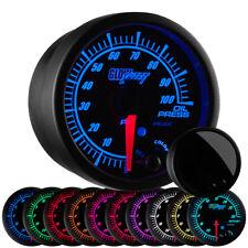 52mm GlowShift Black Elite 10 Color Oil Pressure PSI Gauge w Electronic Sensor