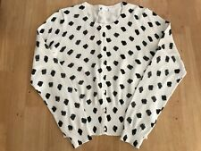 Ladies Knitwear Cardigan Spot Print New Size XS BNWT