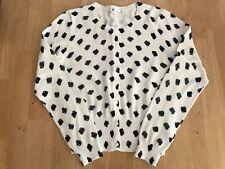 Ladies Knitwear Cardigan Spot Print New Size S BNWT
