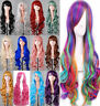 Lady 80cm Long Curly Wigs Women Cosplay Costume Hair Anime Full Wavy Party Wig
