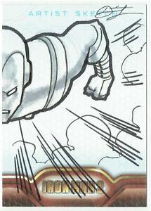 Iron Man 2 Movie Upper Deck 2010 Sketch Card 1/1 Artist Dietrich Smith (b)