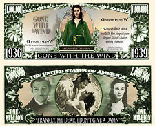 AUTANT EN EMPORTE LE VENT - BILLET MILLION DOLLAR US ! Clark Gable Vivien Leigh