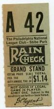 1938-1943 Rare Shibe Park Philadelphia Phillies MLB Baseball Ticket Stub #4