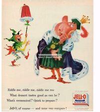 1956 JELL-O King Court Jester Comic art poem Vtg Print Ad