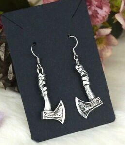 Celtic Axe Earrings Viking Pagan Norse Drop Ear rings