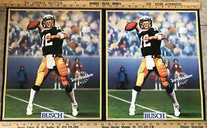Terry Bradshaw Pittsburgh Steeler HOF QB, Busch Beer Poster, 1989 issue