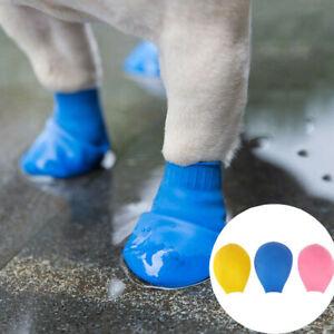4Pcs Pet Boots Non Slip Dog Shoes Boots Waterproof Socks Rubber Outdoor XS-XXL