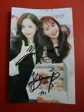 Girls Generation SNSD Yoona Yuri Combo Photo 4x6 Autographed USA SELLER Signed