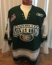 Reebok CCM CHL WHL Everett Silvertips #22 Myra Hockey Jersey Stitched Men's L