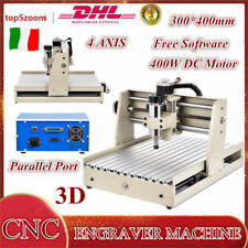 4 Axis 3040 CNC Router Engraver Foratura Fresatrice Incisione Engraving Mashine