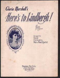 Here's to Lindbergh 1927 Charles Lingbergh Sheet Music
