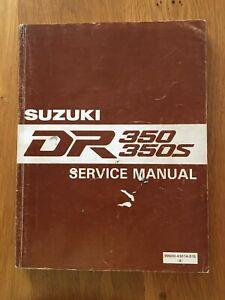 Suzuki  DR350 DR350S  Workshop service manual , See below