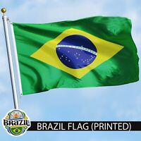 G128 - BRAZIL FLAG 3X5ft BRAZILIAN FOOTBALL BANNER 90X150cm