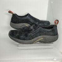 Merrell Mens 10.5 Jungle Moc Waterproof Midnight Black Slip On Shoes