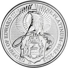2018 Great Britain Platinum Queen's Beasts Griffin £100 - 1 oz - BU