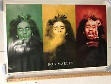 MUSIC POSTER Bob Marley Triple Face Rasta Colors Smoking Joints Classic Scorpio