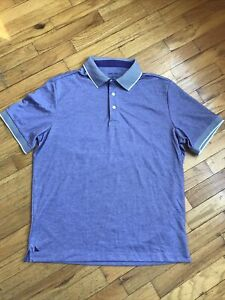 Untuckit Purple Polo Shirt Mens Size Medium M Pima Cotton Blend