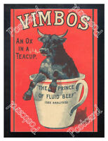 Historic Vimbos Meat extract, 1890s. Advertising Postcard 1
