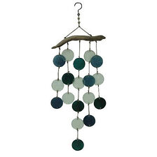 New listing Faux Driftwood & Glass Wind Chime Outdoor Patio & Garden Decor