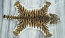 Hand Tufted Wool Carpet Baby Tiger Animal Tiger Skin Area Rug 2'x3' Feet DN-2115