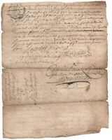 1767 KING LOUIS XVI Royal Notary autograph manuscript document DAMAGED Amazing S