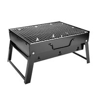 2X(Folding Bbq Grill Portable Barbecue Charcoal Grill Wire Meshes Tools For 6K1)