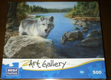 NEW SEALED 2013 Art Gallery Mega Puzzle 500 piece Lone Wolf FREE SHIPPING