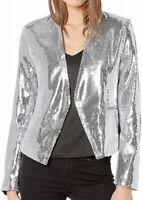 Blanknyc Women's Jacket Silver Size Small S Sequin Disco Ball Pocket $148 #353