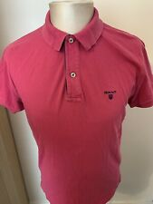 Polo para hombre inteligente Rosa Gant Camisa Top/* * UK Tamaño Mediano