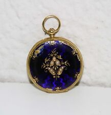RE292 J.F. BAUTTE. 18 K GOLD BOX, ENAMEL AND PEARLS. SWISS. EARLY 19th CENTURY