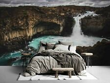 3D Mountain Waterfall Landscape Wallpaper Wall Murals Removable Wallpaper 735