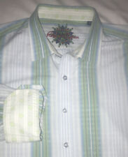ROBERT GRAHAM Men's Multicolored Stripe Long Sleeve Shirt Sz XL Flip Cuffs