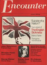 ENCOUNTER MAGAZINE (January 1976) THE ENGLISH SICKNESS-GEORGE STEINER-TOM PAULIN