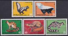 F-Ex19501 Bulgaria Mnh 1985 Skunk Linsang Zorilla Civet Galidia Mammals.