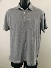 Patagonia Men M Stripe Short Sleeve Polo Shirt m14