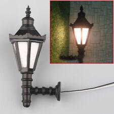 5pcs Train Railway Park LED Lamppost Lamps Wall Lights Model Scale 1 25 3v
