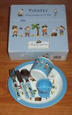 NEW Martin Gulliver Pirates 5 Piece Melamine Baby Feeding Gift Set Bowl Missing