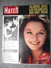 PARIS MATCH n°700 8-09-1962 SORAYA⧫MARINA VLADY⧫JEAN-JACQUES ROUSSEAU⧫ALGÉRIE