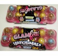 Hatchimals Colleggtibles (2) One Dozen Hatchimals Limmy Edish Glamfetti New!