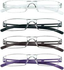4 Pack Reading Glasses, Blue Light Blocking Glasses, Rectangle Eyewear Frame.