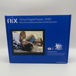 NIX 10 Inch Digital High Definition Photo Frame Hu-Motion Sensor 720p A14