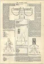 1847 diagramma di apparecchi per Telegrafo elettrico piastre e incisione della batteria