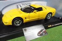 CHEVROLET CORVETTE C5 jaune 1/18 d HOT WHEELS 50422 voiture miniature collection