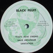 "BALIE MESSENGER That's How Strong / Sanitation Rock Version BLACK FRUIT 12"""