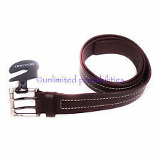 OROTON Sequel Mens Leather Belt New Size 34 Chocolate 89 cm long with Tags