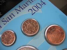 SAN MARINO 1 Cent + 2 Cent + 5 Cent 2004 aus dem KMS