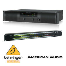 Behringer NX6000 6000W Power Amplifier + American Audio DBD567 Display Lightshow
