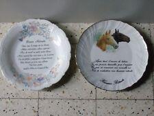 lot 2 assiettes decorative  bonne et heureuse retraite