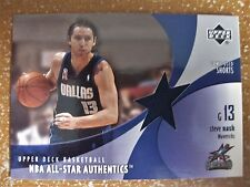 STEVE NASH 2002-03 UPPER DECK ALL STAR AUTHENTICS GAME USED SHORTS #SN-AS