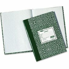 """Tops Lab Notebook 10-3/8""""x7-7/8"""" 60 Shts Green Marble Cover 35128"""